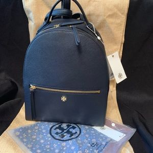 Tory Burch backpack and scarf